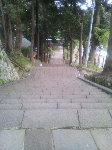 伊豆山神社参道 帰り道
