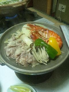 海老と豚肉の焼物