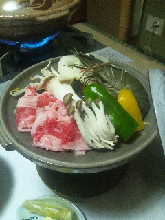 海老と豚肉の焼物 before